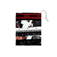 Punk Chick Drawstring Pouch (Small)