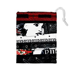 Punk Chick Drawstring Pouch (Large)