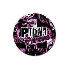 Punk Princess Drink Coaster (round)