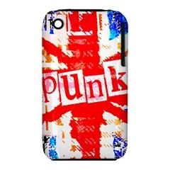 Punk Union Jack Apple Iphone 3g/3gs Hardshell Case (pc+silicone)