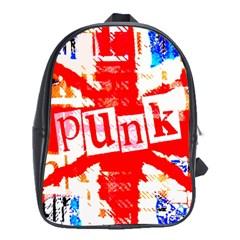Punk Union Jack School Bag (xl)