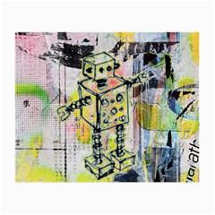 Graffiti Graphic Robot Glasses Cloth (small)