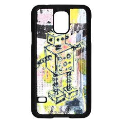 Graffiti Graphic Robot Samsung Galaxy S5 Case (Black)