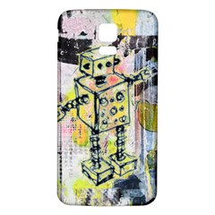 Graffiti Graphic Robot Samsung Galaxy S5 Back Case (White)