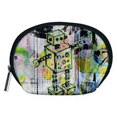 Graffiti Graphic Robot Accessory Pouch (Medium)