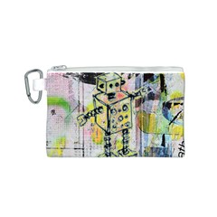 Graffiti Graphic Robot Canvas Cosmetic Bag (Small)