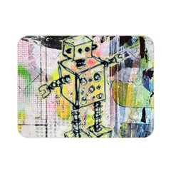 Graffiti Graphic Robot Double Sided Flano Blanket (mini)