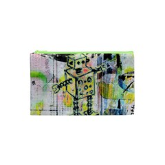 Graffiti Graphic Robot Cosmetic Bag (XS)