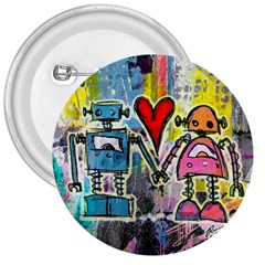 Graffiti Pop Robot Love 3  Button