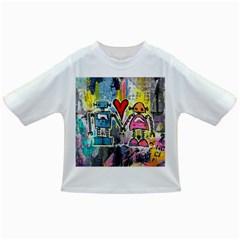 Graffiti Pop Robot Love Baby T-shirt