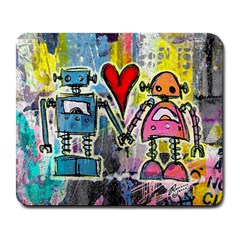 Graffiti Pop Robot Love Large Mouse Pad (rectangle)