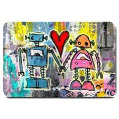 Graffiti Pop Robot Love Large Door Mat