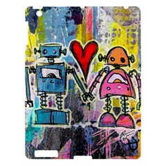 Graffiti Pop Robot Love Apple Ipad 3/4 Hardshell Case