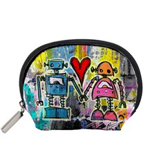 Graffiti Pop Robot Love Accessory Pouch (small)