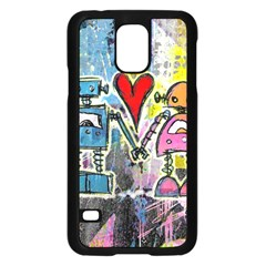 Graffiti Pop Robot Love Samsung Galaxy S5 Case (Black)