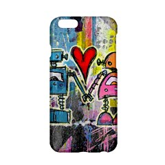 Graffiti Pop Robot Love Apple iPhone 6 Hardshell Case