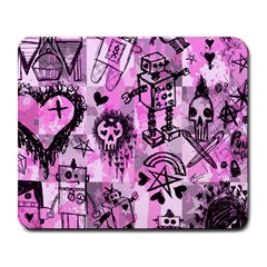 Pink Scene Kid Sketches Large Mouse Pad (rectangle)