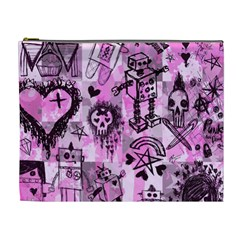Pink Scene Kid Sketches Cosmetic Bag (xl)