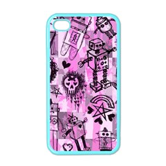 Pink Scene Kid Sketches Apple Iphone 4 Case (color)