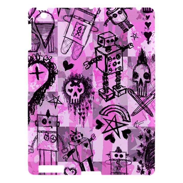 Pink Scene Kid Sketches Apple iPad 3/4 Hardshell Case