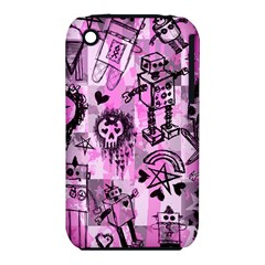 Pink Scene Kid Sketches Apple iPhone 3G/3GS Hardshell Case (PC+Silicone)