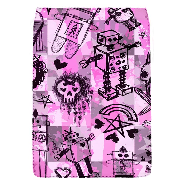 Pink Scene Kid Sketches Removable Flap Cover (S)