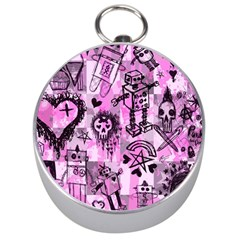 Pink Scene Kid Sketches Silver Compass