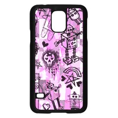 Pink Scene Kid Sketches Samsung Galaxy S5 Case (Black)