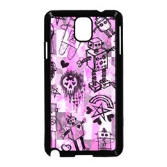Pink Scene Kid Sketches Samsung Galaxy Note 3 Neo Hardshell Case (black)