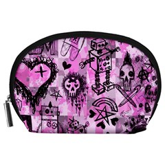 Pink Scene Kid Sketches Accessory Pouch (Large)