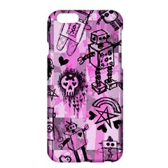 Pink Scene Kid Sketches Apple iPhone 6 Plus Hardshell Case