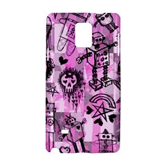 Pink Scene Kid Sketches Samsung Galaxy Note 4 Hardshell Case