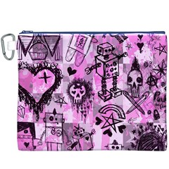 Pink Scene Kid Sketches Canvas Cosmetic Bag (XXXL)