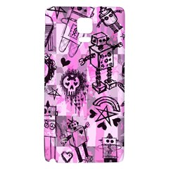 Pink Scene Kid Sketches Samsung Note 4 Hardshell Back Case