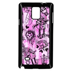 Pink Scene Kid Sketches Samsung Galaxy Note 4 Case (Black)