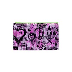 Pink Scene Kid Sketches Cosmetic Bag (XS)