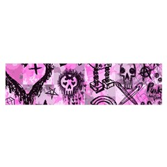 Pink Scene Kid Sketches Satin Scarf (Oblong)