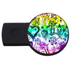 Rainbow Scene Kid Sketches 2gb Usb Flash Drive (round)