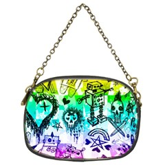 Rainbow Scene Kid Sketches Chain Purse (two Sided)