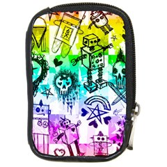 Rainbow Scene Kid Sketches Compact Camera Leather Case