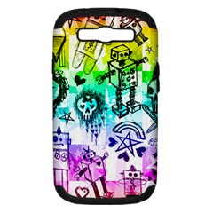 Rainbow Scene Kid Sketches Samsung Galaxy S Iii Hardshell Case (pc+silicone)