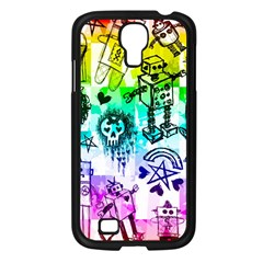 Rainbow Scene Kid Sketches Samsung Galaxy S4 I9500/ I9505 Case (black)