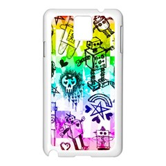 Rainbow Scene Kid Sketches Samsung Galaxy Note 3 N9005 Case (White)