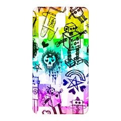 Rainbow Scene Kid Sketches Samsung Galaxy Note 3 N9005 Hardshell Back Case
