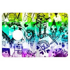Rainbow Scene Kid Sketches Kindle Fire Hdx Flip 360 Case