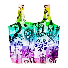 Rainbow Scene Kid Sketches Reusable Bag (l)