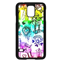Rainbow Scene Kid Sketches Samsung Galaxy S5 Case (Black)
