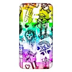 Rainbow Scene Kid Sketches Samsung Galaxy S5 Back Case (White)