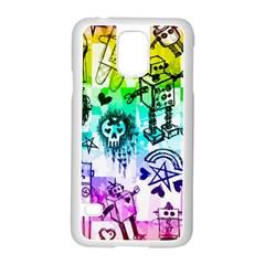 Rainbow Scene Kid Sketches Samsung Galaxy S5 Case (White)