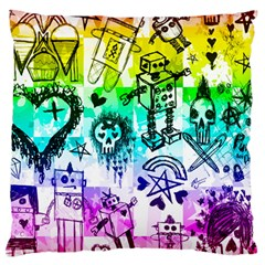 Rainbow Scene Kid Sketches Standard Flano Cushion Case (Two Sides)